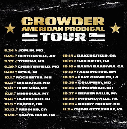 American Prodigal Tour Dates