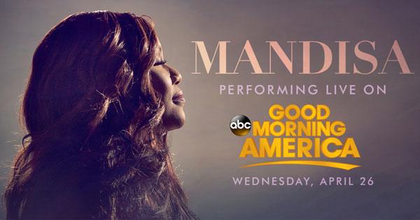 Good Morning America Tomorrow : Jfh news tune in alert grammy winner mandisa on abc s
