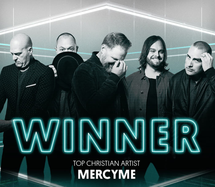 JFH News: MercyMe Named Top Christian Artist At 2018